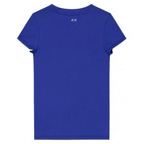 NIK en NIK Tropic t-shirt met kraaltjes en tekst in de kleur kobalt blauw