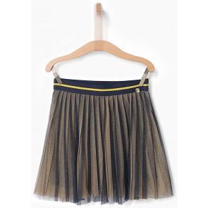 IKKS girls plissée rok met gouden glitters in de kleur donkerblauw