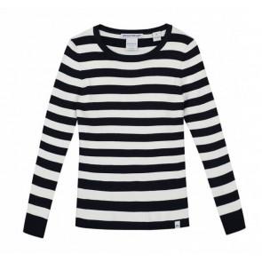 NIK en NIK gestreepte Jolie top in de kleuren zwart/wit