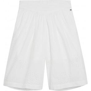 Tommy Hilfiger korte Shiffley broek met kant in de kleur wit