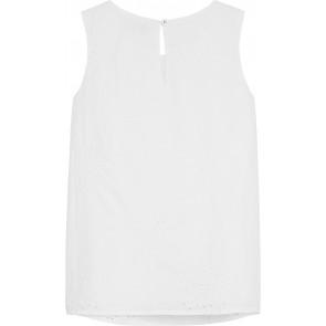 Tommy Hilfiger a-lijn top met kant in de kleur wit