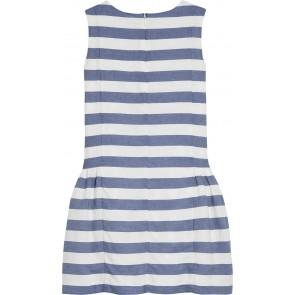 Tommy Hilfiger gestreepte jurk in de kleuren wit - blauw
