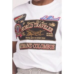 My Brand traveler t-shirt columbus in de kleur wit