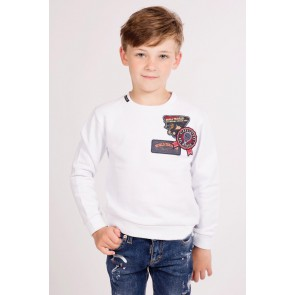 My Brand traveler sweater trui met patches in de kleur wit