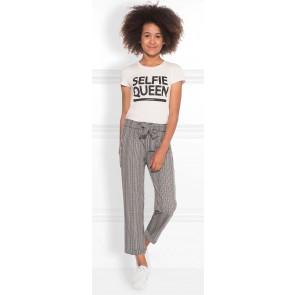 NIK en NIK Fabienne pants geruite broek in de kleur grijs