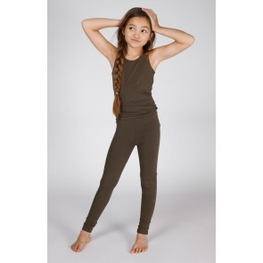 Miss Moscow cotton legging in de kleur driftwood army green
