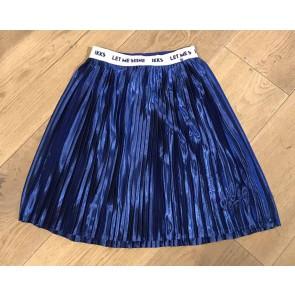 "IKKS plisée glans rok ""let me shine' in de kleur kobalt blauw"