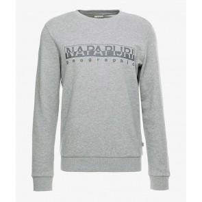 Napapijri sweater trui met logo print in de kleur grijs