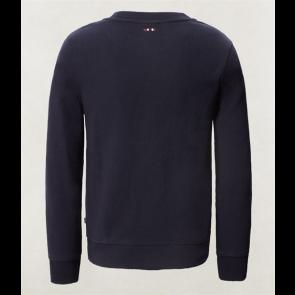 Napapijri sweater trui met logo print in de kleur donkerblauw
