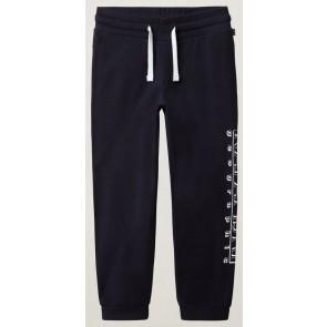 Napapijri sweat pants broek met logo print op de pijp in de kleur donkerblauw