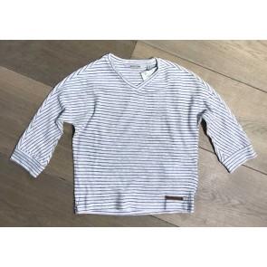 Miss Moscow gestreept shirt cotton linnen in de kleur off white/blauw