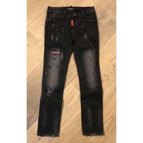 My Brand jeans broek washed long jeans met spetters in de kleur zwart