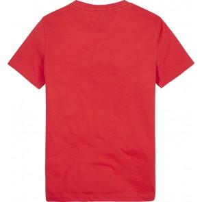 Tommy Hilfiger logo t-shirt in de kleur rood