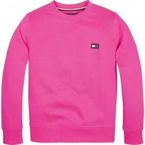 Tommy Hilfiger sweater trui met logo in de kleur fuchsia roze