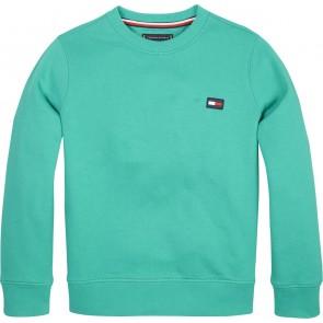 Tommy Hilfiger sweater trui met logo in de kleur groenblauw