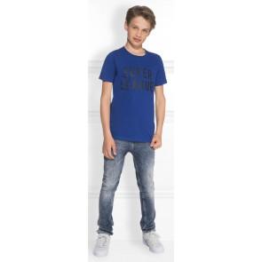 NIK en NIK Super league t-shirt in de kleur kobalt blauw