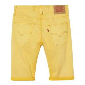 Levi's kids boys korte broek slim fit bermuda broek in de kleur geel