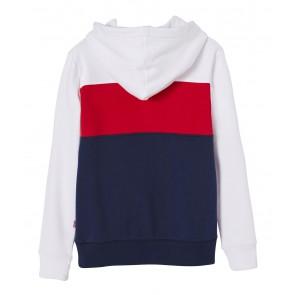 Levi's kids boys sweat blocky hoodie trui in de kleur blauw/rood/wit