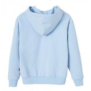 Levi's kids girls hoodie sweater trui met logo print in de kleur lichtblauw