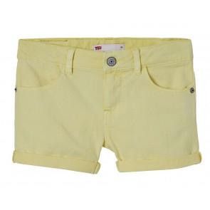 Levi's kids girls korte broek short Mirah in de kleur zachtgeel