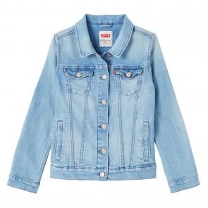 Levi's kids girls getailleerd spijkerjasje in lichte wassing in de kleur jeansblauw
