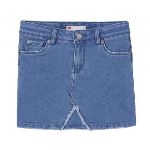 Levi's kids girls mini jeansrok in de kleur jeansblauw