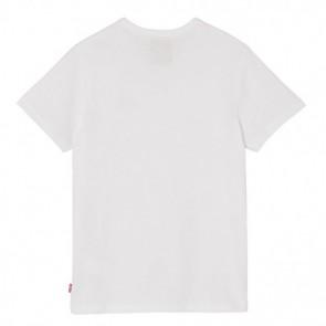 Levi's kids boys shirt met klein logo in de kleur wit