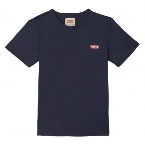 Levi's kids boys t-shirt met kleine logo print in de kleur donkerblauw