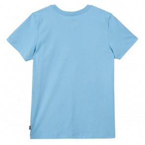 Levi's kids t-shirt met logo print in de kleur lichtblauw