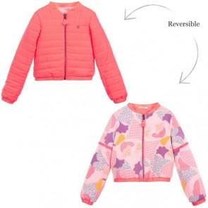 Billieblush reversible zomerjas met bloemenprint in de kleur roze