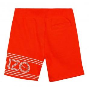 Kenzo kids boys sweatshort broek in de kleur vivid orange oranje
