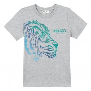 Kenzo kids boys hawai floyd tiger kop in de kleur lichtgrijs