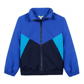 Kenzo kids boys zomerjas met logo print in de kleur blauw