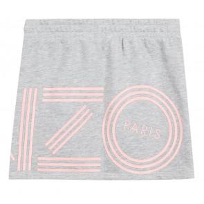 Kenzo kids girls stretch rok in de kleur lichtgrijs