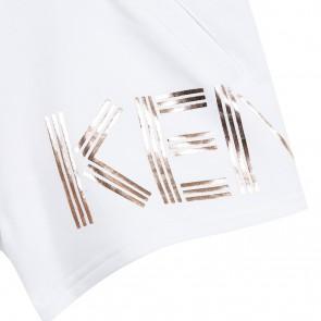 Kenzo kids korte sweat short met gouden logo print