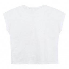 Kenzo kids girls shirt met tiger koppen en pastel tinten in de kleur wit