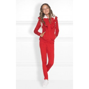 Nik en Nik love track jacket in de kleur apple red rood