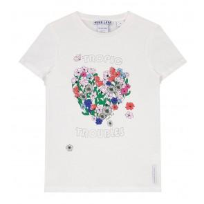 Nik en Nik t-shirt tropic troubles in de kleur off white