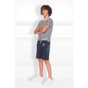 Nik en Nik korte broek Franklin short in de kleur dark blue donkerblauw