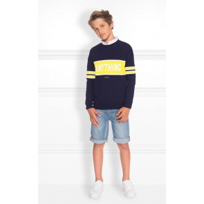 Nik en Nik trui anything sweater in de kleur dark blue donkerblauw