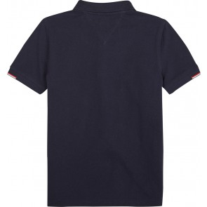 Tommy Hilfiger poloshirt met logo in de kleur donkerblauw