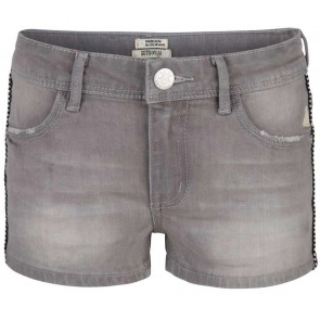 Indian blue jeans girls denim short korte broek met bies in de kleur grijs