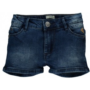 Indian blue jeans girls denim short korte broek in de kleur jeansblauw