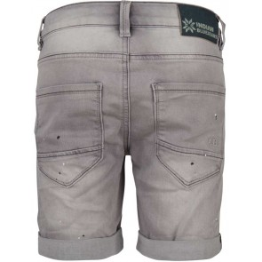 Indian blue jeans boys short korte broek met verfspetters in de kleur grijs
