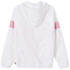 Levi's kids girls zomerjas met roze logostreep in de kleur wit