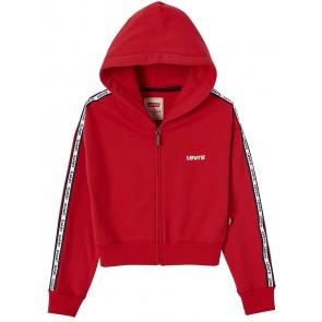 Levi's kids girls kort vest met logobies in de kleur rood