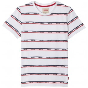 Levi's kids boys t-shirt met logostrepen in de kleur wit