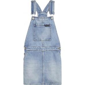Calvin Klein kids girls tuinjurk jeansjurk in de kleur jeansblauw
