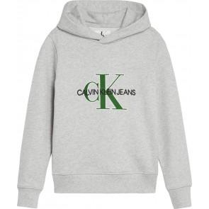 Calvin Klein kids boys hoodie sweater trui met logo print in de kleur grijs