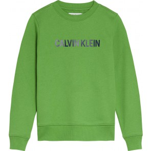Calvin Klein kids sweater trui met logo print in de kleur groen